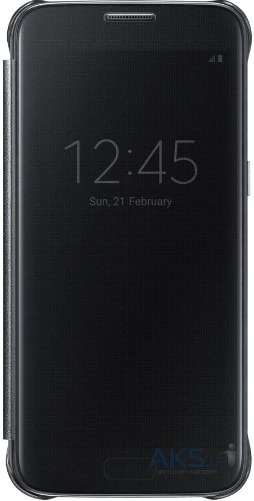 Чехол Samsung Clear View Cover Series G930 Galaxy S7 Black (EF-ZG930CBEGRU)