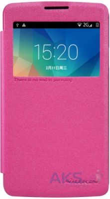 Чехол Nillkin Sparkle Leather Series LG Optimus L60 X135, X145 Pink