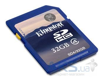 Карта памяти Kingston 32GB SDHC Class 4 (SD4/32GB)