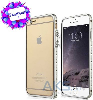Чехол Baseus Eternal Series Tiffany Diamond Metal Bumper Apple iPhone 6 Gray