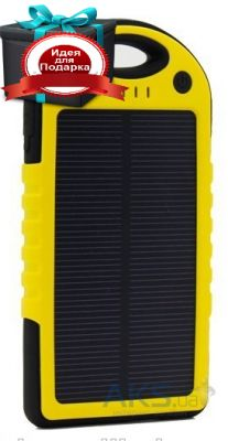 Внешний аккумулятор MANGO IPX6 Waterproof solar 5000mAh Black/Yellow