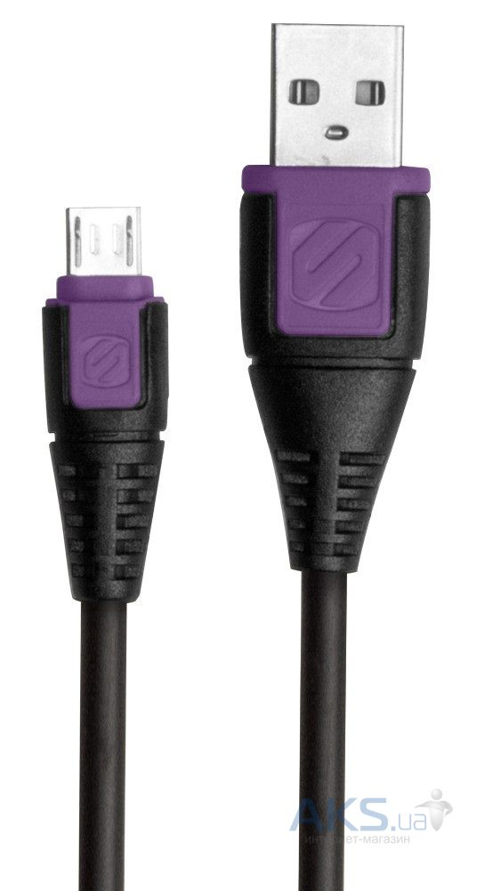 Кабель USB Scosche syncABLE™ Micro USB Cable Black / Violet (USBM3PU)