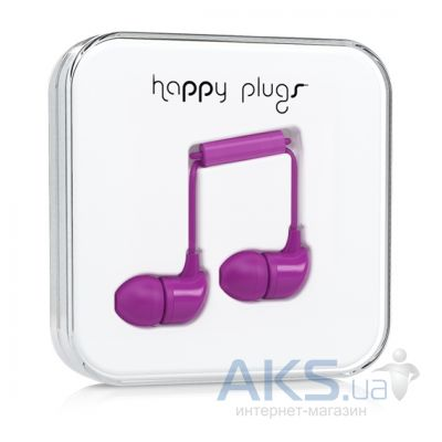 Наушники (гарнитура) Happy Plugs Headphones In-Ear Purple