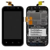 Дисплей (экраны) для телефона Prestigio MultiPhone 4044 DUO + Touchscreen with frame Original Black
