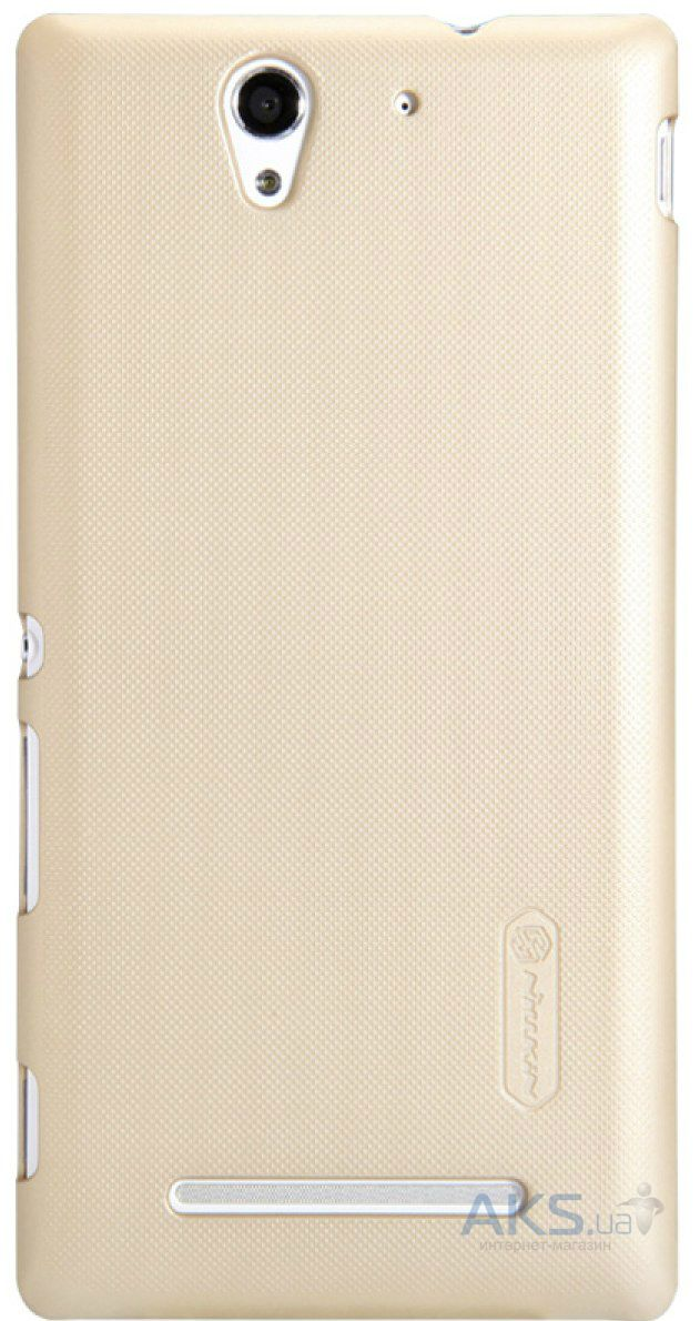 Чехол Nillkin Super Frosted Shield Sony Xperia C3 D2502 Gold
