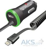 Зарядное устройство E-Power Car Charger + Lightning (2.1A) Black \ Green (EP312CC)