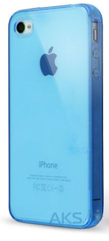 Чехол Original TPU для Apple iPhone 4S Blue