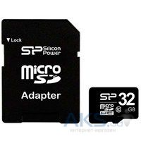 Карта памяти Silicon Power 32GB microSDHC Class 10 + SD Adapter (SP032GBSTH010V10-SP)