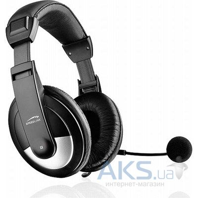 Наушники (гарнитура) Speed Link THEBE Stereo Headset (SL-8743-SBK-02)
