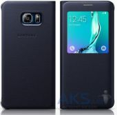 Чехол Samsung S View Cover G928 Galaxy S6 Edge Plus Blue Black (High Copy)
