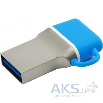 Флешка GooDRam 16GB DualDrive C Blue USB 3.0 (PD16GH3GRDDCBR10)