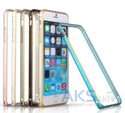 Чехол Yoobao Metal aluminum alloy Bumper for iPhone 6/6S Black [Bumperi6-BK]