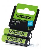 Батарейка Videx LR03/AAA  SHRINK CARD 2шт