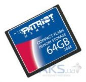 Карта памяти Patriot Memory card Compact Flash 64Gb, 266x (PSF64G266CF)