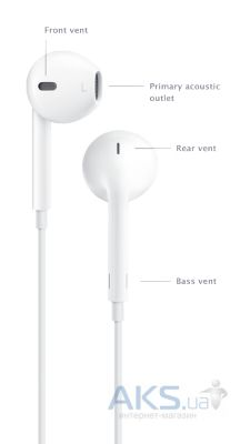 Вид 3 - Гарнитура для телефона Apple Earpods Original with Remote and Mic  (MD827) 00e927c49764b