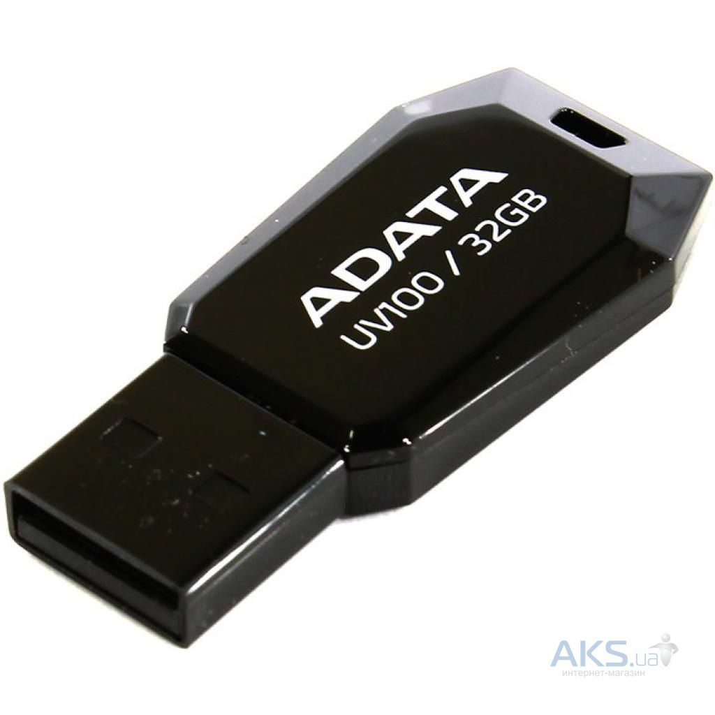 Фле�ка 32gb dashdrive uv100 black usb 20 auv10032grbk