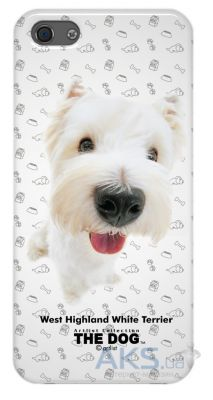 Чехол Qual for iPhone 5 THE DOG West High and White (QL1111WH)