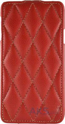 Чехол Carer Base Flip Leather Case for G900 Galaxy S5 Red Grid