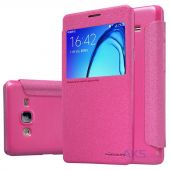 Чехол Nillkin Sparkle Leather Series Samsung G550 Galaxy On5 Pink