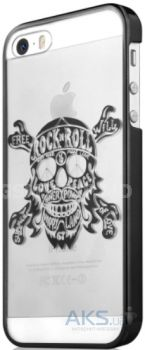 Чехол ITSkins KROM for iPhone 5/5S Black (APH5-NKROM-BLCK)