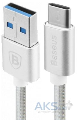 Кабель USB Baseus Braided Type-C Cable Silver