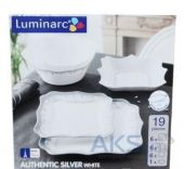 Столовый сервиз Luminarc Authentic H8391 Silver White