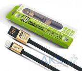 Вид 2 - Кабель USB GOLF Metal Lightning USB Flat Cable Black
