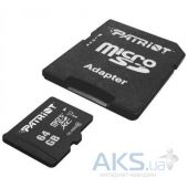 Вид 3 - Карта памяти Patriot 64 GB microSDXC UHS-I + SD adapter PSF64GMCSDXC10