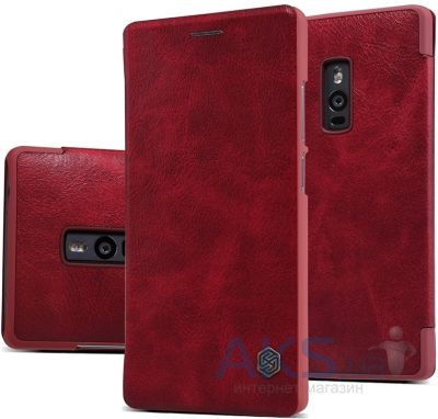 Чехол Nillkin Qin Leather Series OnePlus 2 Red