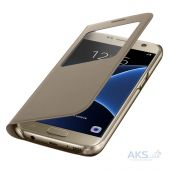 Чехол Samsung S View Cover Series G930 Galaxy S7 Gold (EF-CG930PFEGRU)