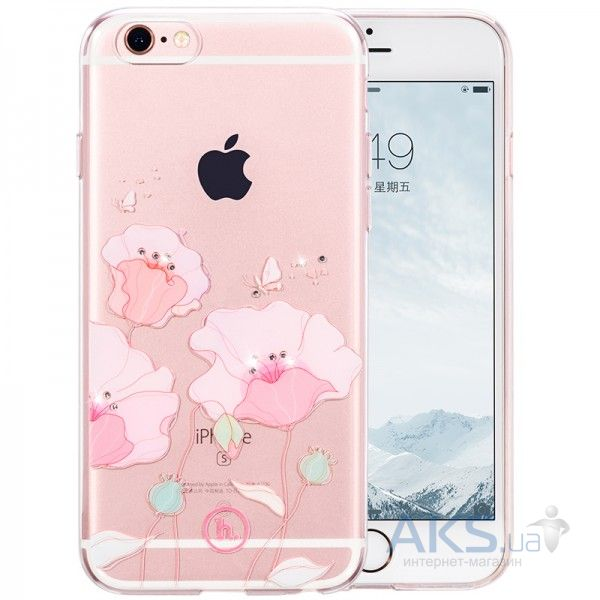 Чехол Hoco Super Star Inner Diamond Flower Apple iPhone 6, iPhone 6S Corn Poppy