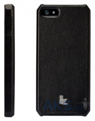 Чехол JisonCase Smart case of folded edge for iPhone 5 Black (JS-IP5-01H10)