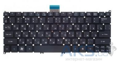 Клавиатура для ноутбука Acer Aspire S3,S5,One 756, TravelMate B1 RU, (9Z.N7WSC.10R) Black