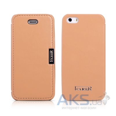 Чехол iCarer Luxury Side-open Apple iPhone 5, iPhone 5S, iPhone 5SE Brown