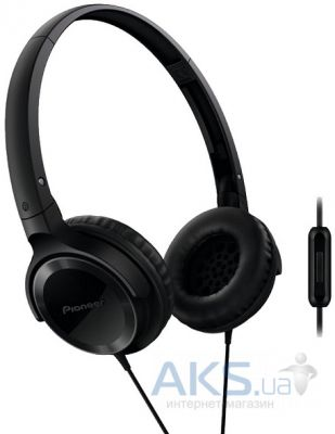 Наушники (гарнитура) Pioneer SE-MJ502T-K Black with microphone Black