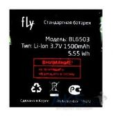Аккумулятор Fly IQ285 Turbo / BL6503 (1500 mAh) Original