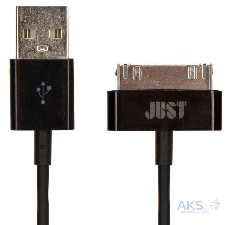 Кабель USB JUST Simple 30 pin USB Cable Black (30P-SMP10-BLCK)