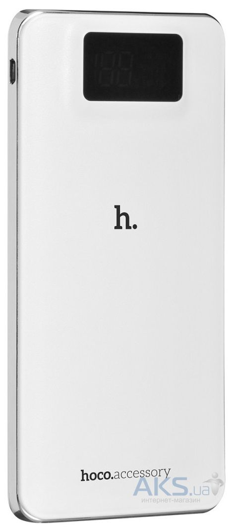 Повербанк power bank Hoco UPB05 LCD 10000 mAh White