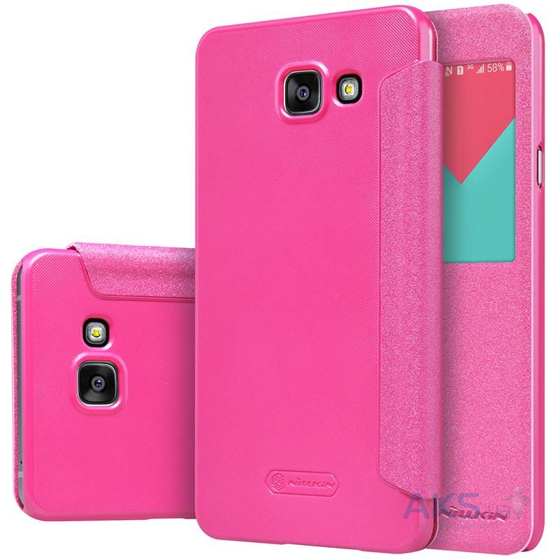 Чехол Nillkin Sparkle Leather Series Samsung A710 Galaxy A7 2016 Pink
