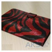 Обложка (чехол) Saxon Case для PocketBook Touch 622/623/624/626/614/660 Zebra Red
