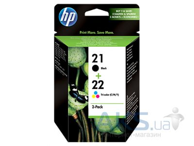 Картридж HP No.21/22 Combo Pack (SD367AE) Black/Tri-color