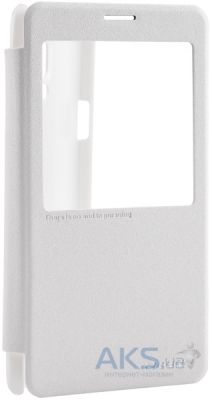 Чехол Nillkin Sparkle Leather Series Samsung N910/Note 4 White
