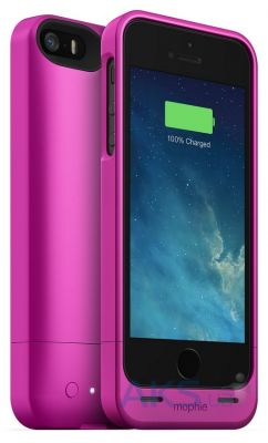 Чехол Mophie Juice Pack Helium Apple iPhone 5, iPhone 5S, iPhone SE Pink 1500 mAh (JPH-IP5-PNK-I)
