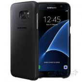 Чехол Samsung Leather Cover G935 Galaxy S7 Edge Black (EF-VG935LBEGRU)