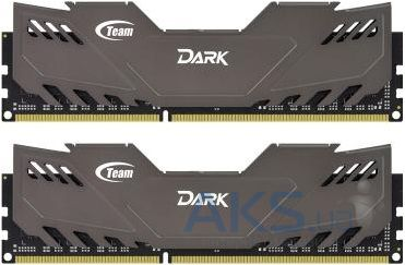 Оперативная память Team DDR-3 8GB (2x4GB) 1600 MHz Dark Series Grey (TDGED38G1600HC9DC01)
