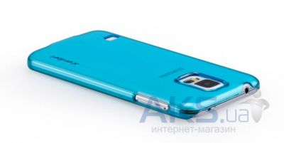 Чехол Momax Ultratough Transparent case for Samsung G900 Galaxy S5 Blue (CUSAS5B)
