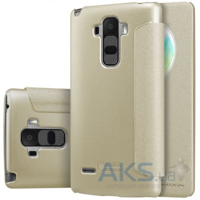 Чехол Nillkin Sparkle Leather Series LG Optimus G4 Stylus H630, H540 Gold