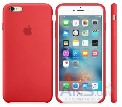 Чехол Apple Silicone Case for iPhone 6S Plus Red (MKXM2)