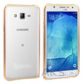Чехол New Metal Slim Bumper Samsung J700 Galaxy J7 Gold