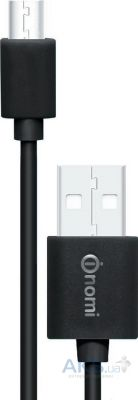 Кабель USB Nomi DC microUSB Cable 0,9m Black